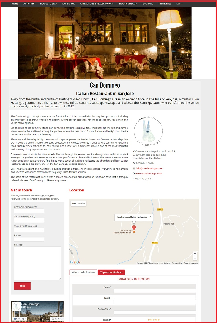 Sales Page Example when Advertise with us What's on in Lancaster.com